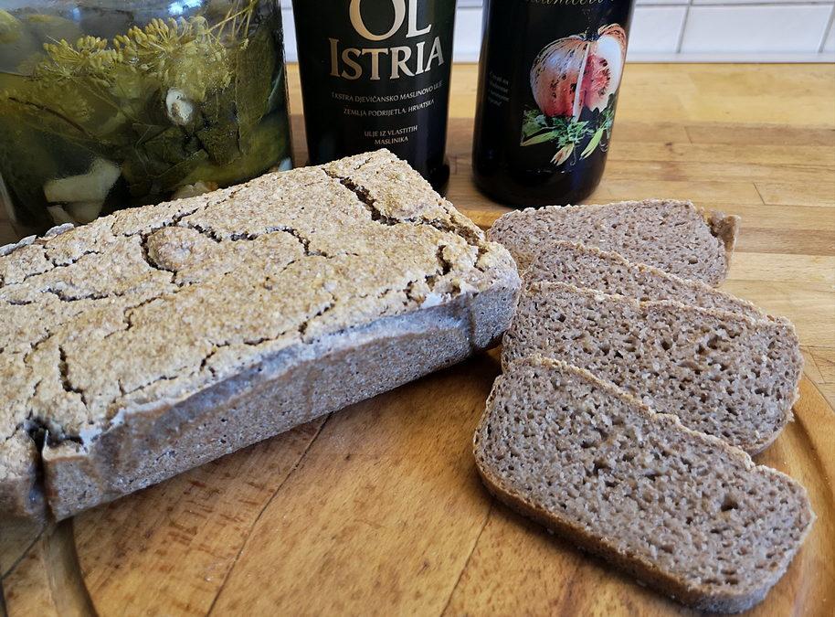 Chleb z kaszy gryczanej niepalonej – bezglutenowy